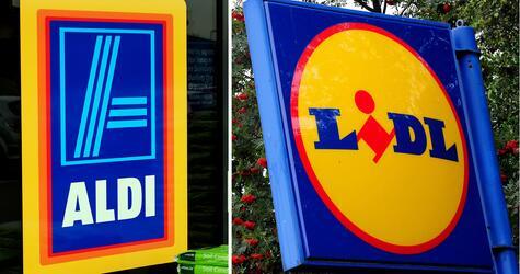 Symbole, Logos, Supermarkt, Discounter, Aldi Süd, Lidl