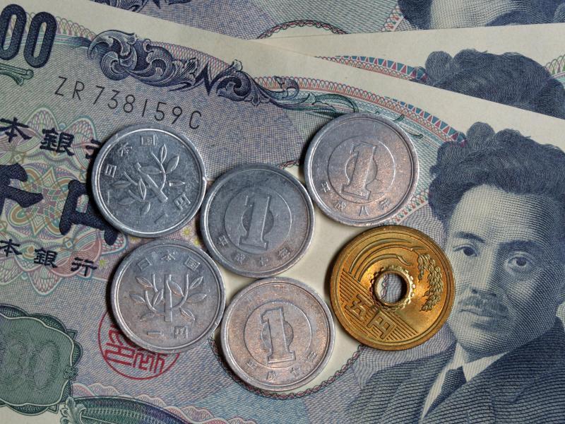 Bild zu Yen-Münzen