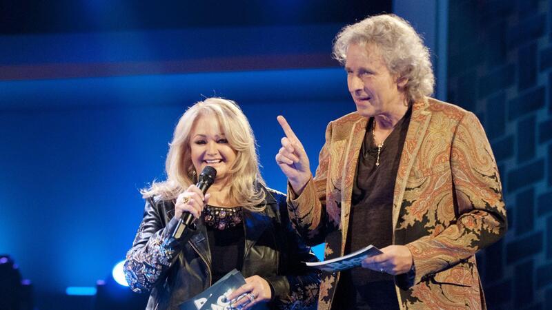 Thomas Gottschalk und Sängerin Bonnie Tyler