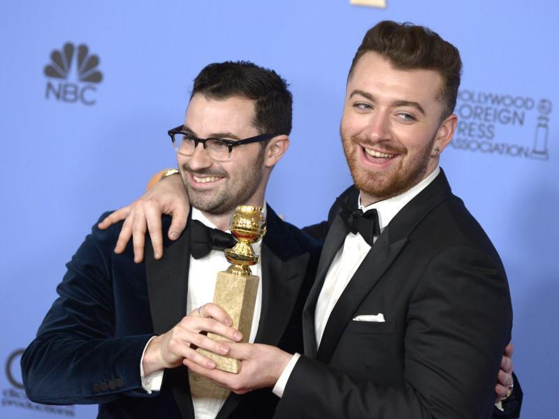 Bild zu Golden Globes - Sam Smith + Jimmy Napes
