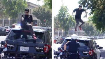Bild zu Polizeiauto, Vandalismus, Fresno,