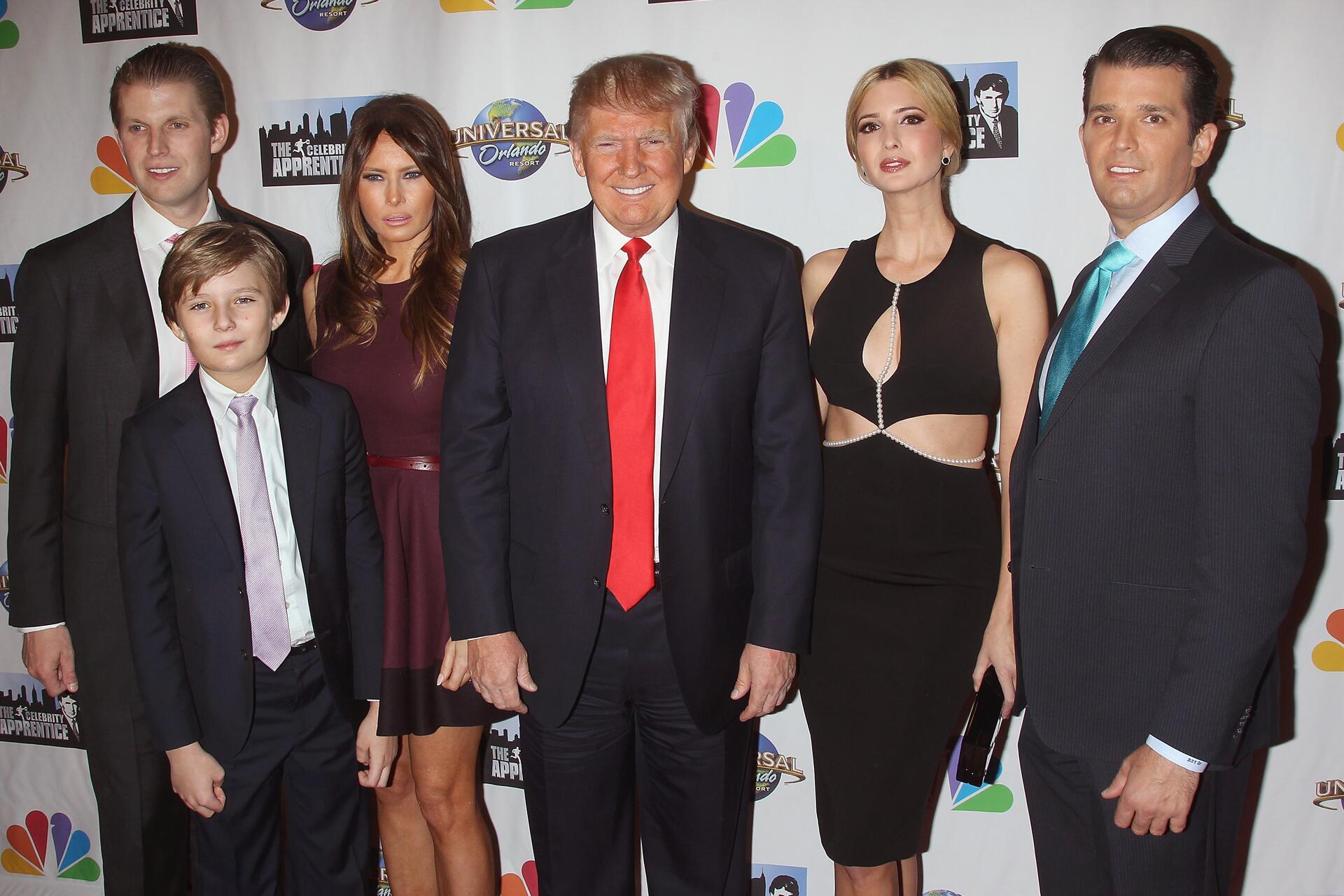 zu Eric Trump, Barron Trump, Melania Trump, Donald Trump, Ivanka Trump ...