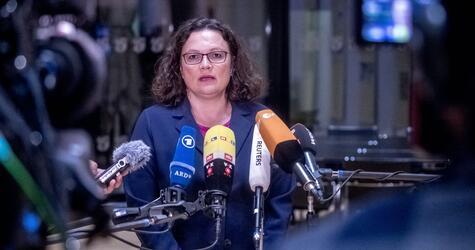 Koalitionstreffen im Kanzleramt, SPD, Nahles