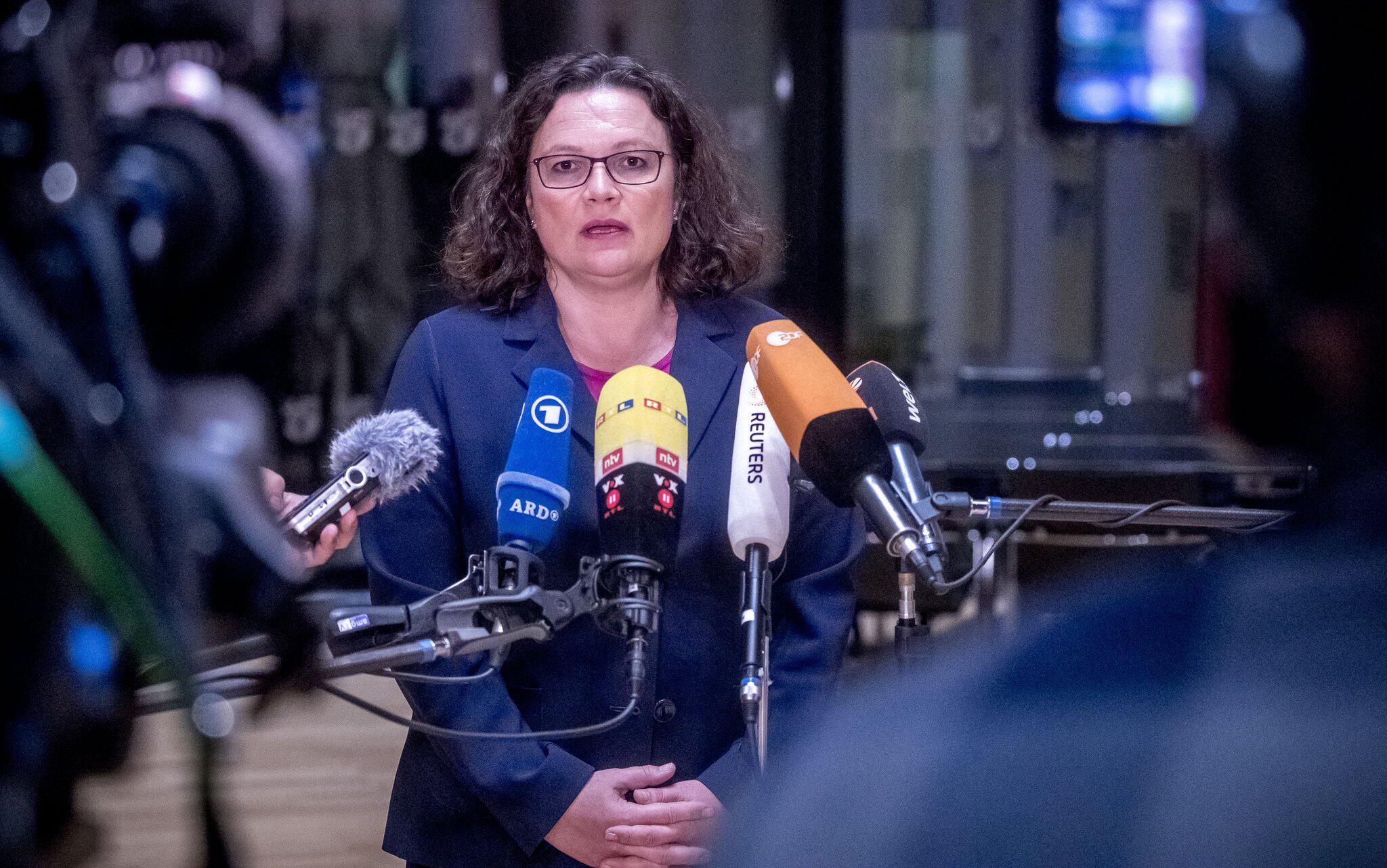 Bild zu Koalitionstreffen im Kanzleramt, SPD, Nahles