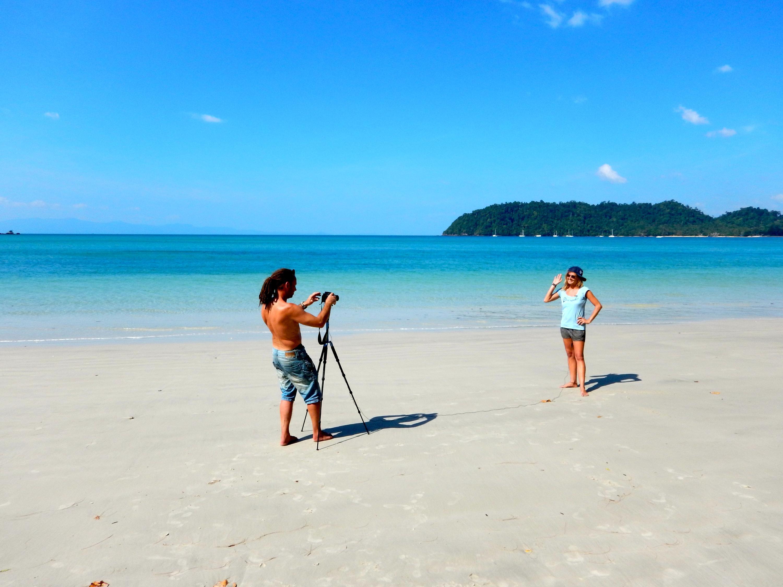Bild zu Als Strandtester steht man auch selbst vor der Kamera
