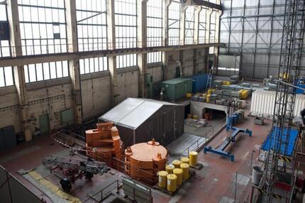 Zurückgebaute Reaktoranlage