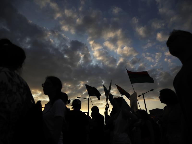 Bild zu Protestmarsch