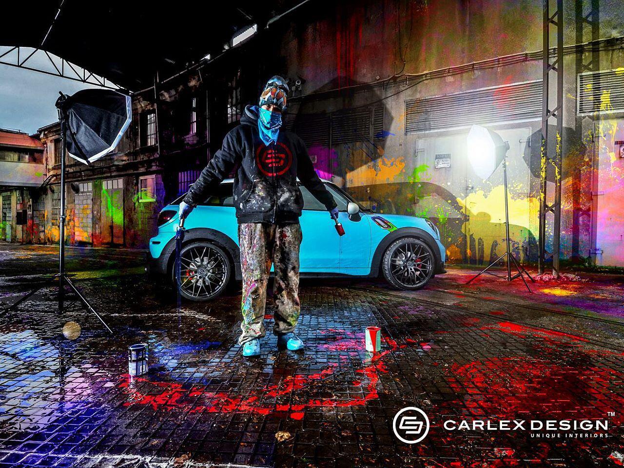 Bild zu Tuning mal anders: Carlex Design hat dem Mini ein Paar Farbkleckse verpasst