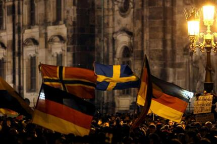 Kundgebung in Dresden
