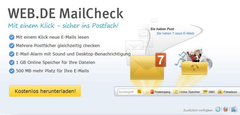 Bild zu WEB.DE MailCheck