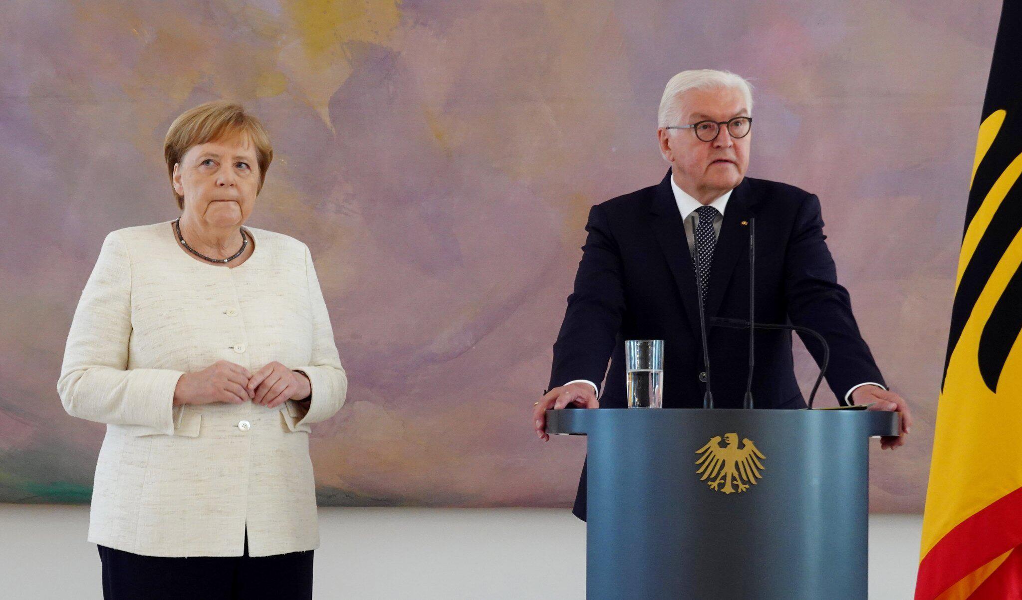 Bild zu Merkel hat erneut Zitteranfall