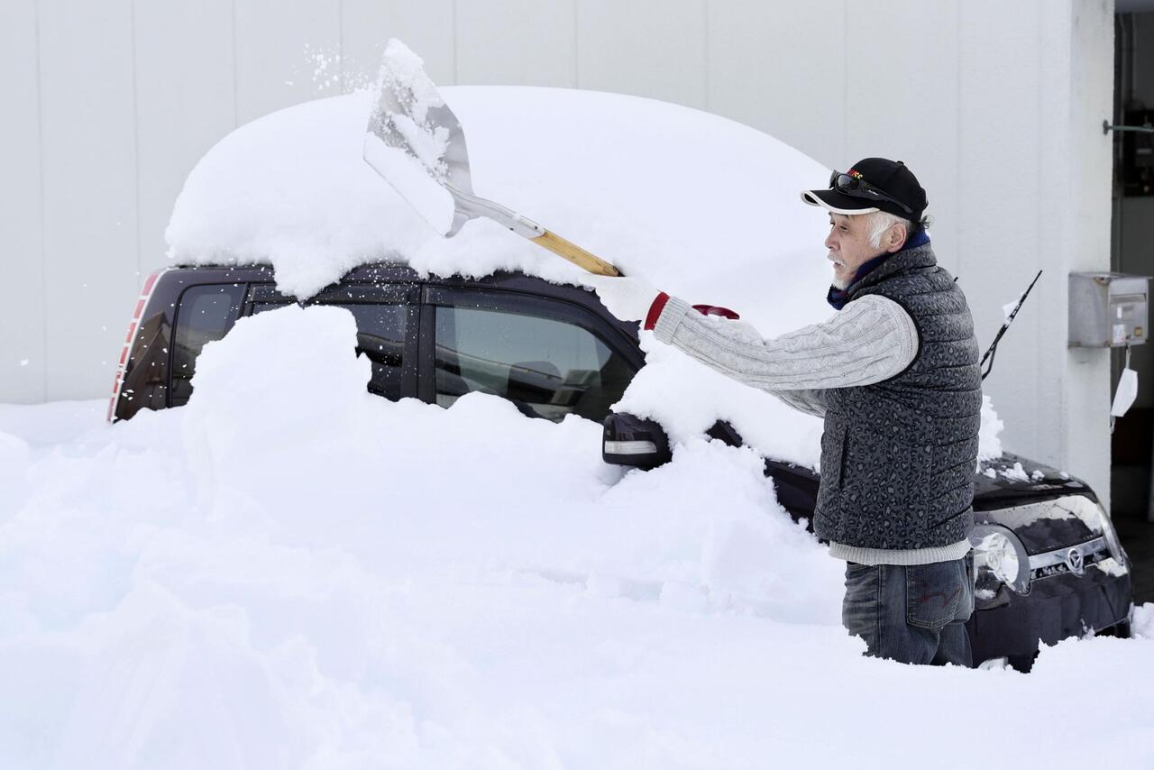 Bild zu Schneefall in Japan