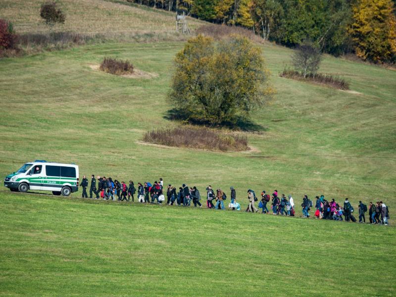 Bild zu Flüchtlinge an der deutsch-österreichischen Grenze