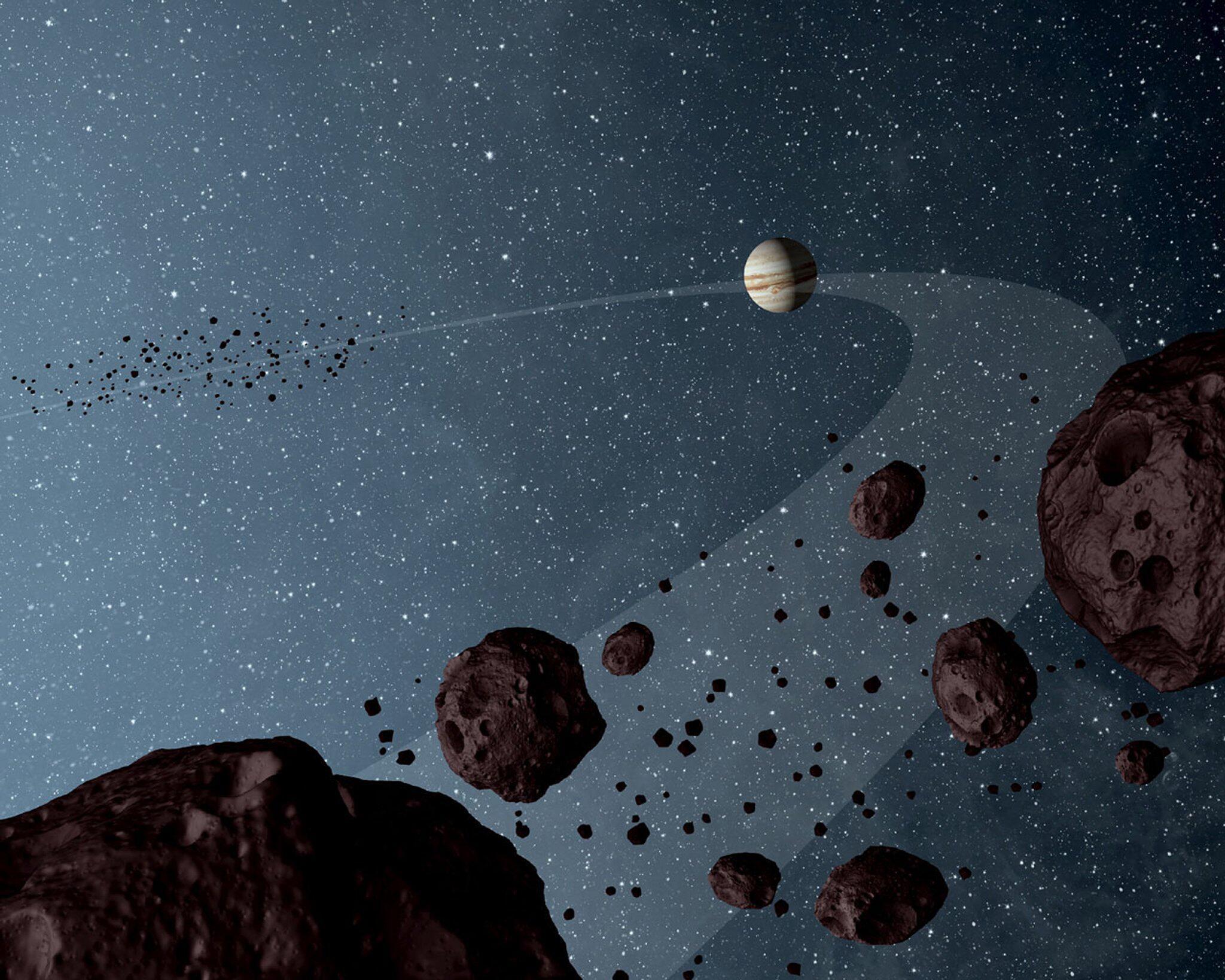 Bild zu Asteroiden kreisen auf der Umlaufbahn des Jupiters