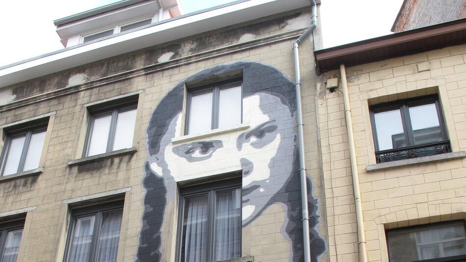 Greta Thunberg Graffiti in Brussels