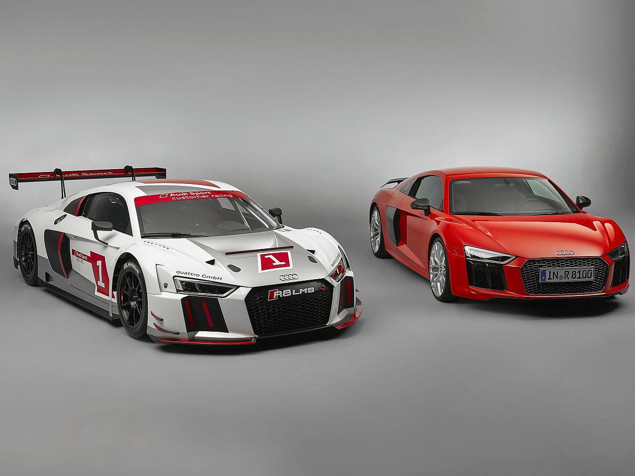 Bild zu Audi R8 LMS und sein Serienbruder