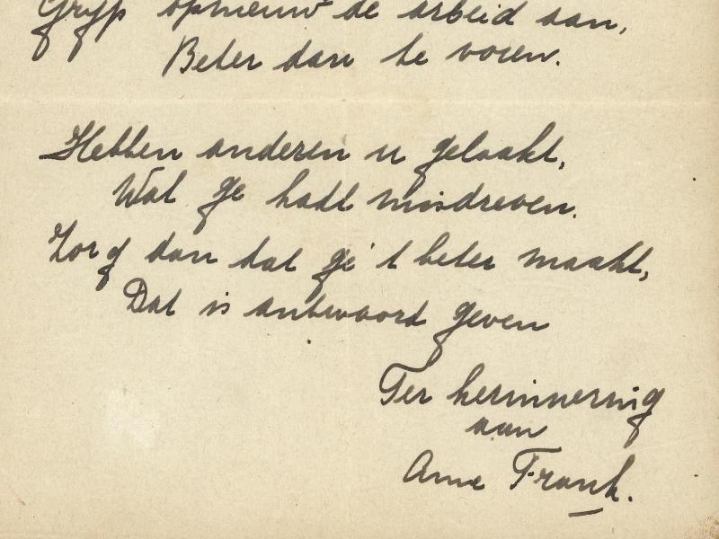 Bild zu Gedicht von Anne Frank