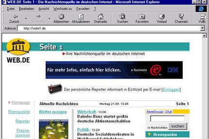 WEB.DE Homepage