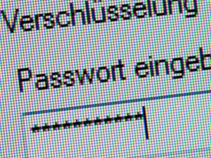 Bild zu Eingabe eines Passworts