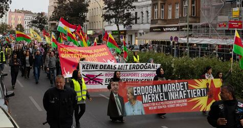 Demonstrationen gegen Erdogan