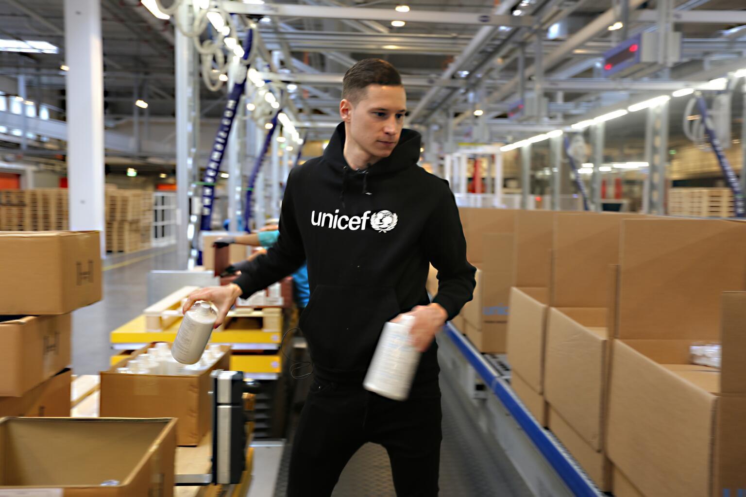 Bild zu Julian Draxler, UNICEF, Kopenhagen