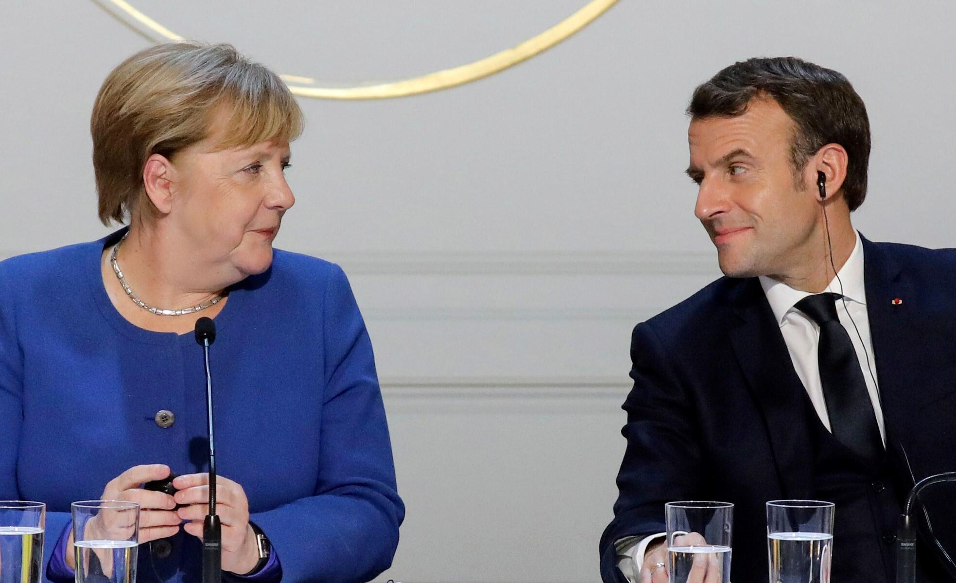 Image d'Angela Merkel, Emmanuel Macron