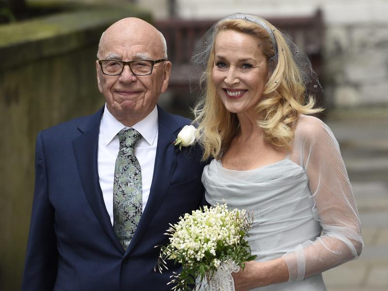 Bild zu Rupert Murdoch und Jerry Hall
