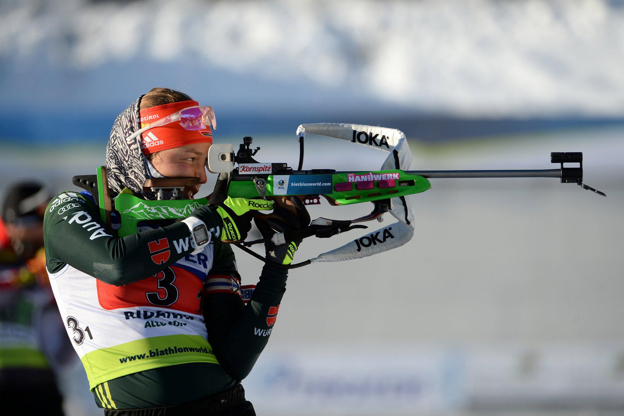 Bild zu IBU-Cup, Ridnaun, Laura Dahlmeier, Mixed-Staffel