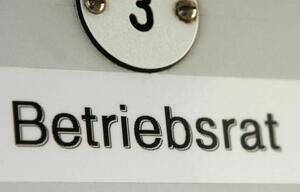 """Schild mit Titel """"Betriebsrat"""""""