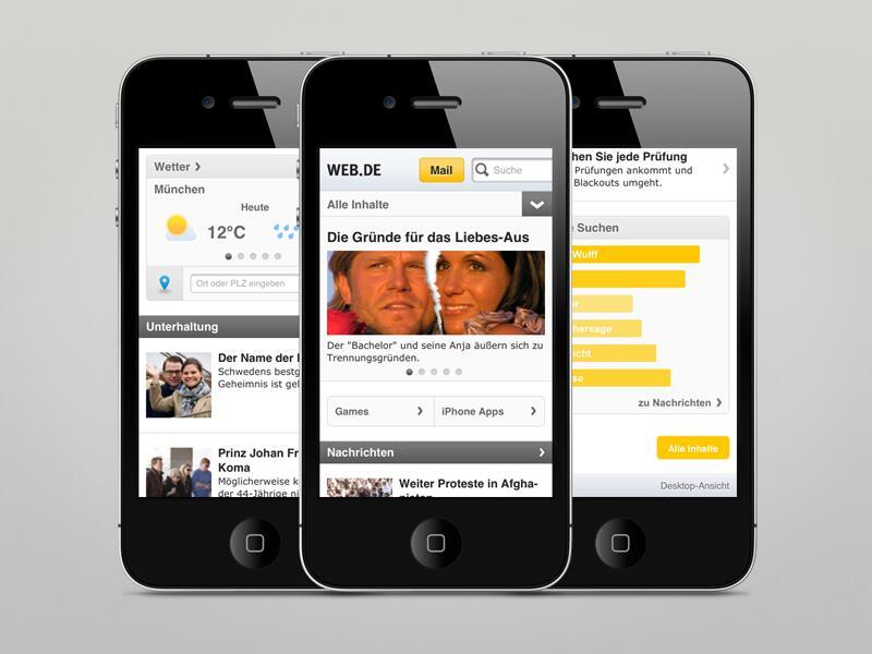 Bild zu Mobile Homepage WEB.DE