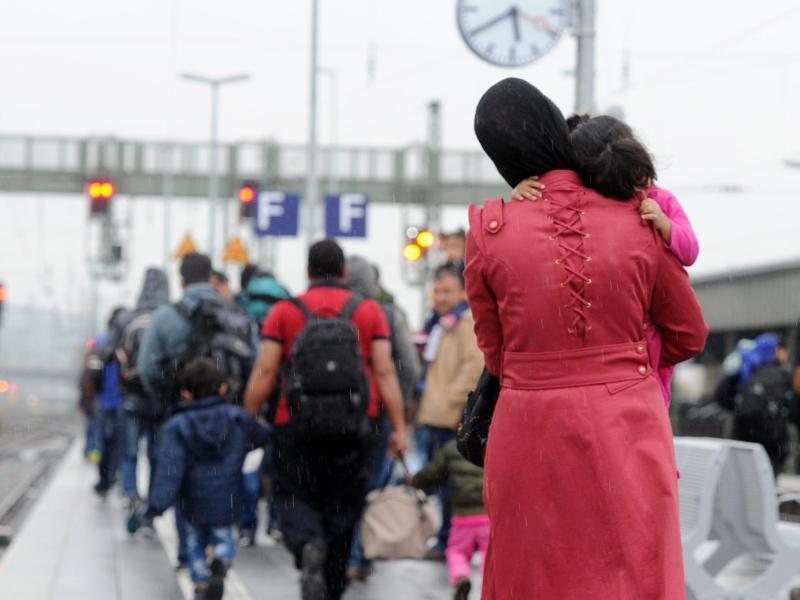 Bild zu Flüchtlinge am Passauer Bahnhof