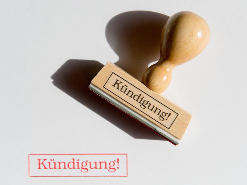Bild zu Stempel mit der Aufschrift «Kündigung»