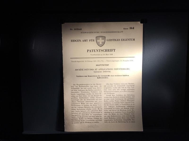 Bild zu Das Patent für Nescafé im Nestlé-Museum