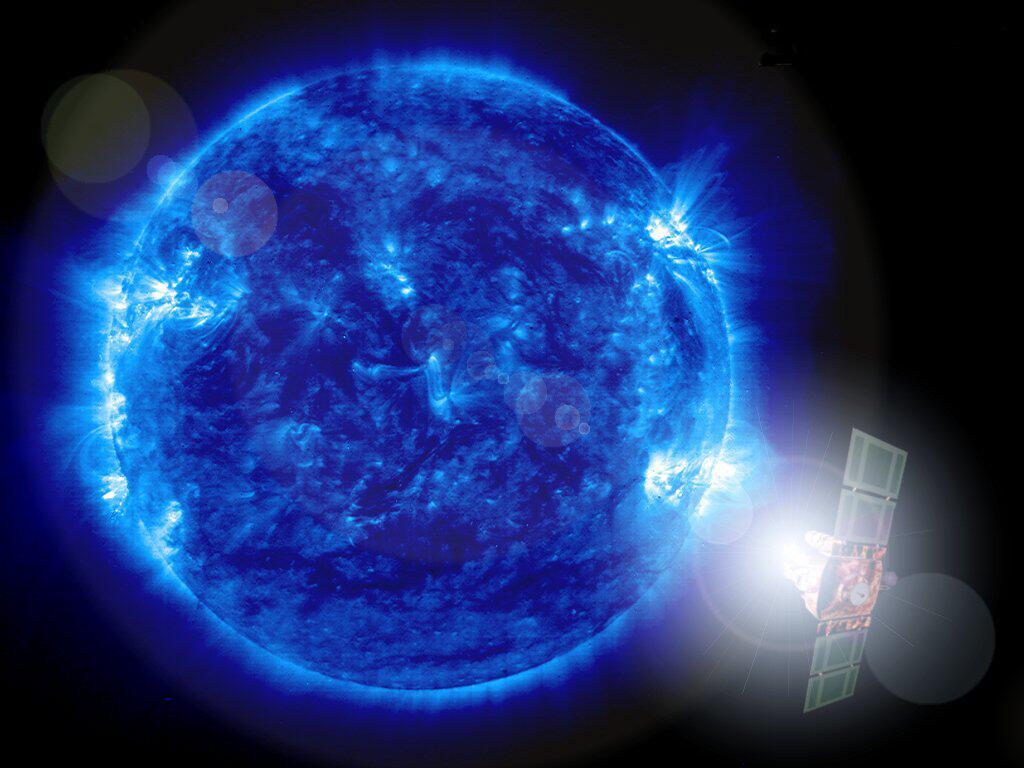 Bild zu Satellit SOHO beobachtet die Sonne