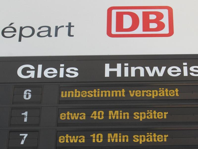 Bild zu Verspätung bei der Deutschen Bahn