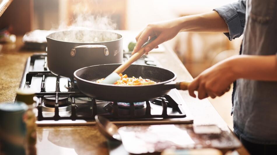 Küche, Pfannen, Induktion, Set, Keramik, Gusseisen, Edeltstahl, beschichtet, unbeschichtet