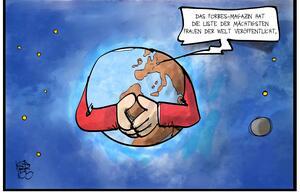 Karikatur Merkel mächtigste Frau Forbes Koufogiorgos Kostas