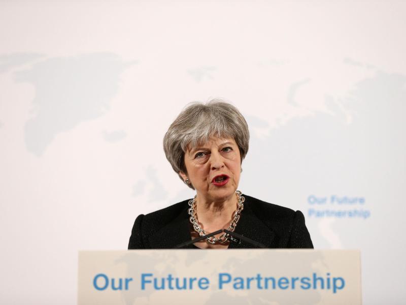 Bild zu May-Rede