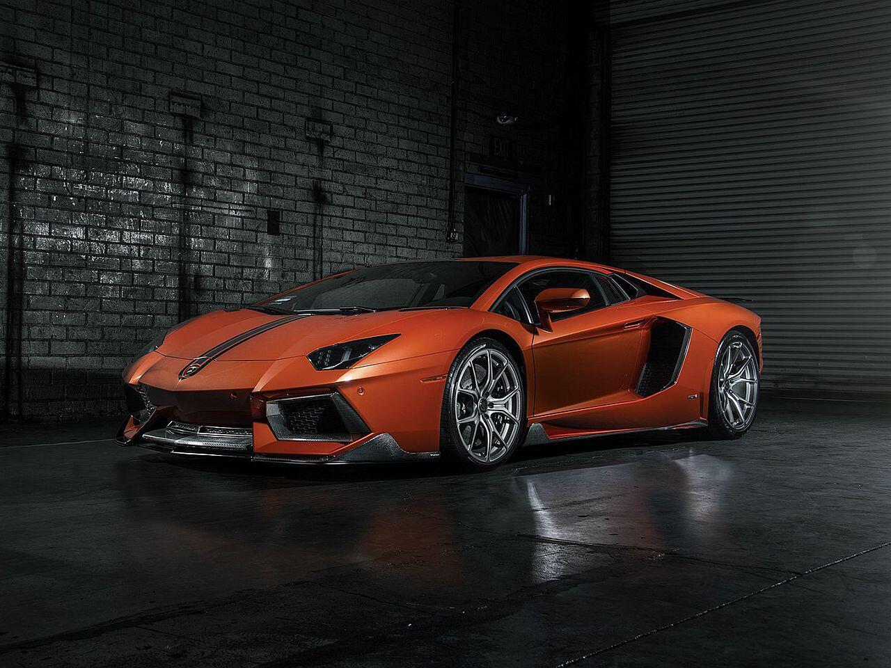 Bild zu Aufgebrezelter Kampfstier: Lamborghini Aventador von Vorsteiner