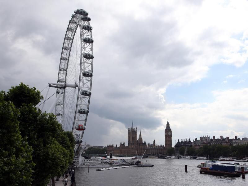 Bild zu Touristenattraktionen London Eye und Big Ben
