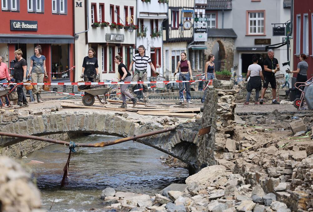 Flutkatastrophe Nordrhein-Westfalen - Bad Münstereifel