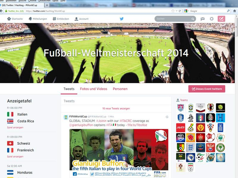 Bild zu Twitter WM 2014