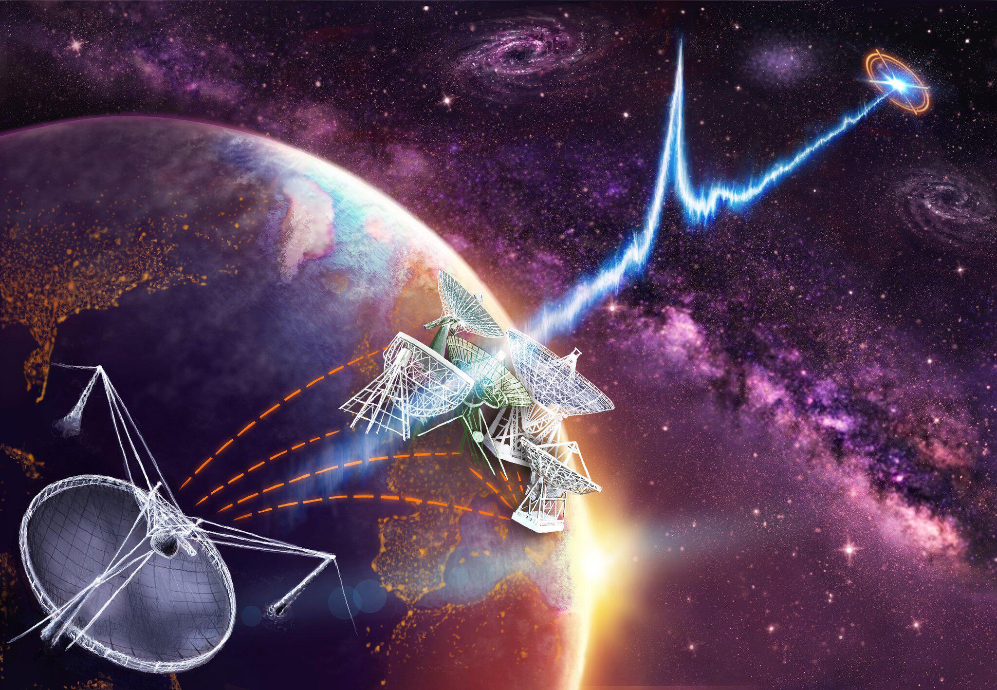Bild zu Zwerggalaxie ist Ursprung mysteriöser Radioblitze