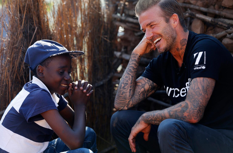 Bild zu David Beckham, UNICEF, Swasiland