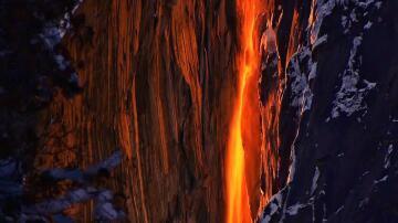 Bild zu Yosemite, Nationalpark, USA, Wasserfall, Feuer-Wasserfall, Kalifornien