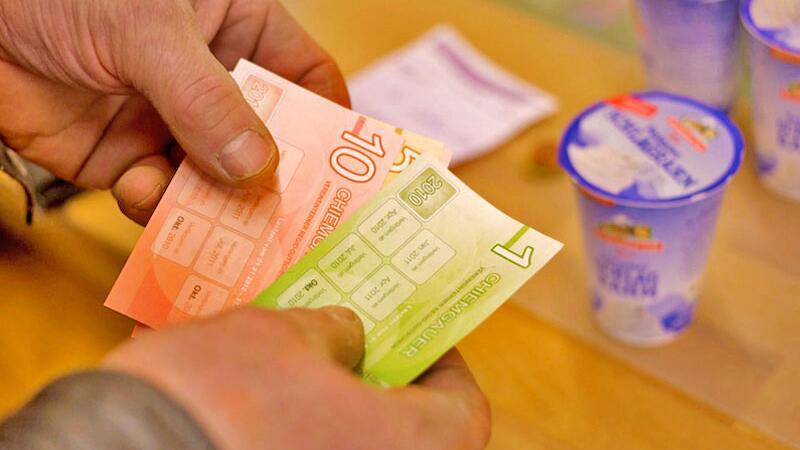 Chiemgauer-Währungsexemplare