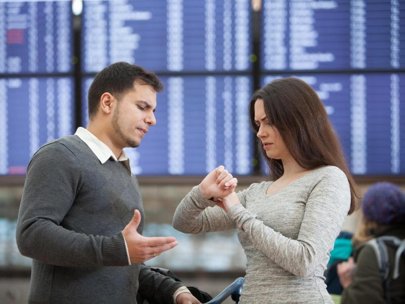 Bild zu Ärger über Flugverspätung