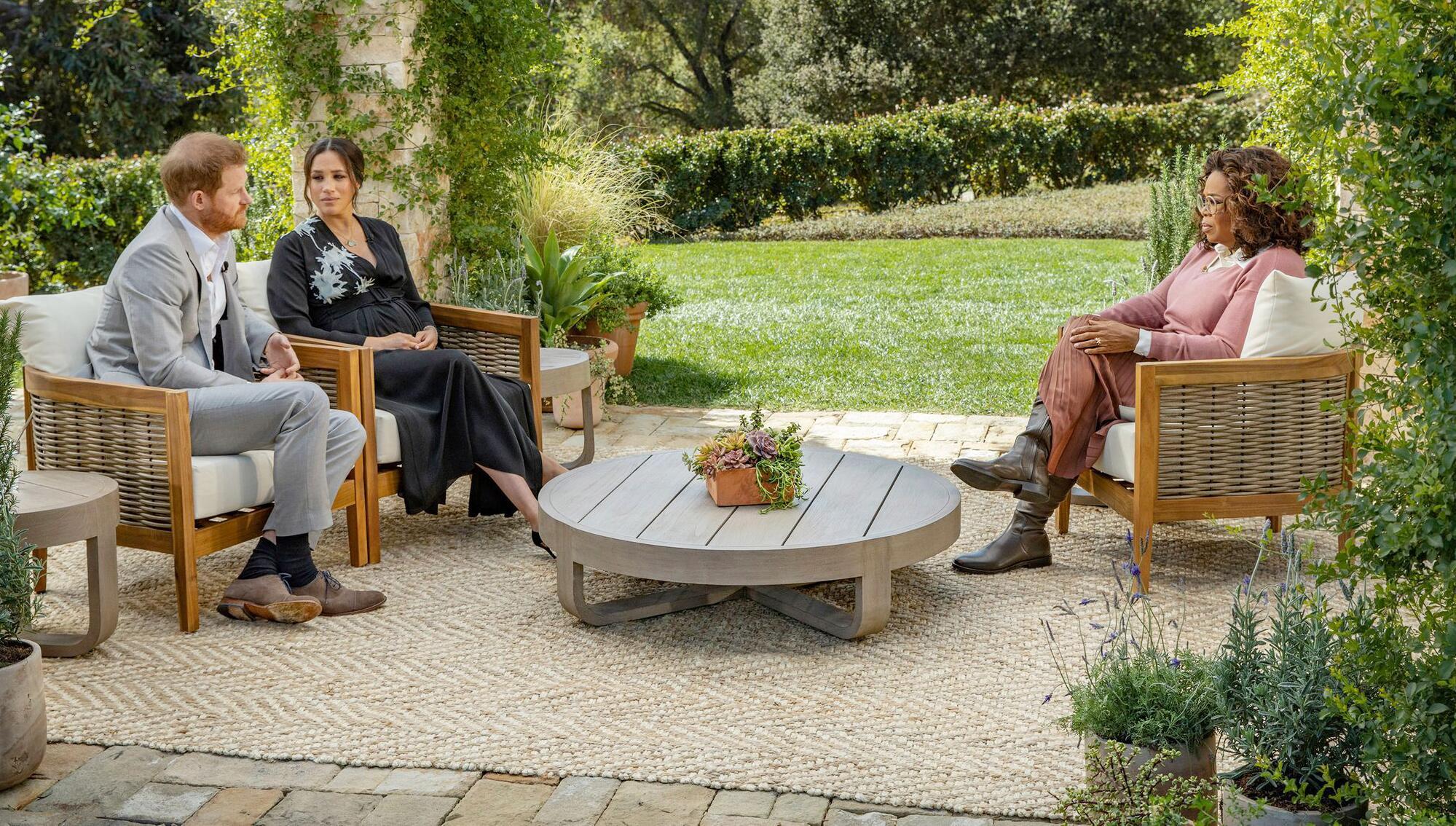 Bild zu Interview Meghan und Harry mit US-Moderatorin Oprah Winfrey