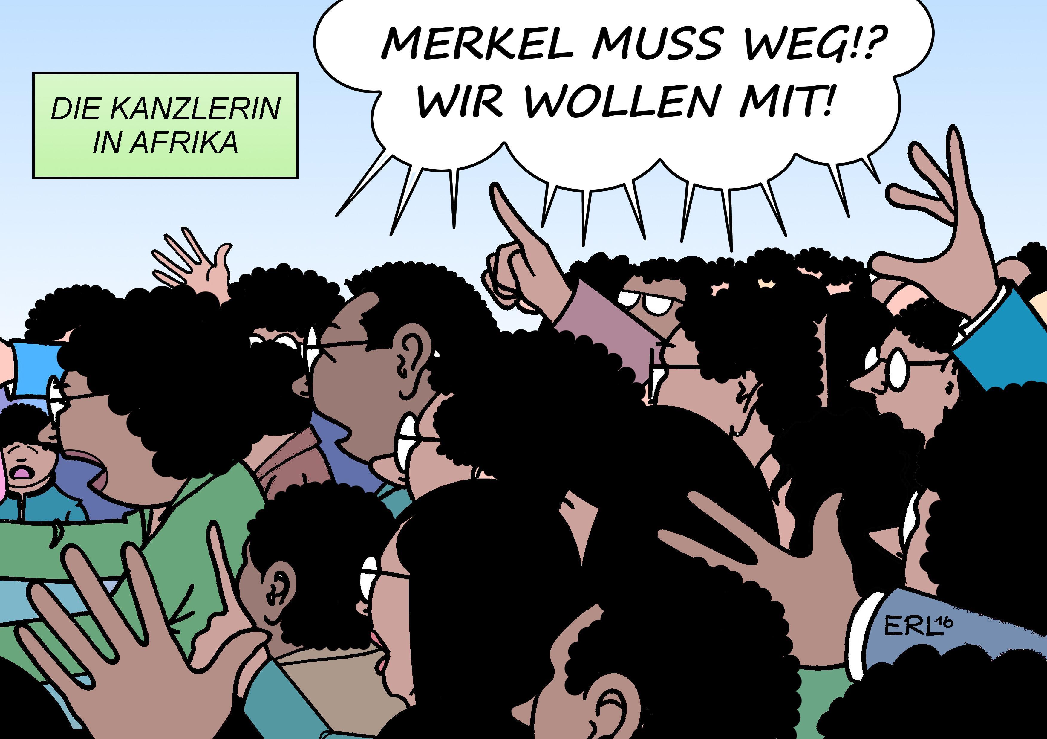 Bild zu Merkel, Flüchtlinge, Lügenpresse