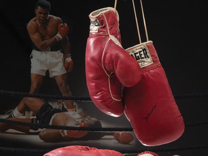 Die berühmten boxhandschuhe werden versteigert